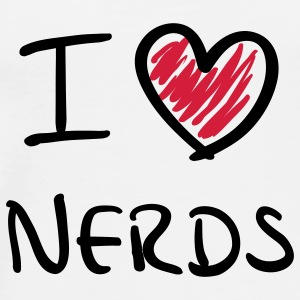 I love nerds - Männer Premium T-Shirt