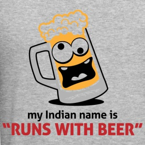 Runs With Beer 1 (dd)++ Sweaters - slim fit T-shirt