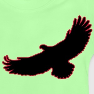 2 Color Adler Eagle Greifvogel Raptor Vogel Bird Flying Fliegender Kinder Pullover - Baby T-Shirt
