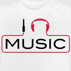 I love music plug headphones sound bass beat catch cable music i love techno minimal house club dance dj discjockey electronic electro Kids' Shirts - Baby T-Shirt