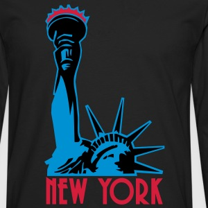 Liberty Enlightening the World, New York, NY, Freiheitsstatue, Statue of Liberty, www.eushirt.com, FR - T-shirt manches longues Premium Homme