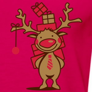A reindeer with gifts Polo Shirts - Women's Premium Tank Top