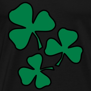 2 colors - Kleeblatt Irland Sankt Patricks Day Shamrock Ireland Saint Gensere - Premium T-skjorte for menn