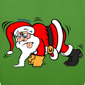 Santa Claus Doing Pushups Kids' Tops - EarthPositive Tote Bag