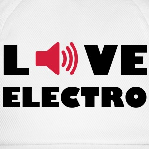 Love Electro Music Audiophile speakers amplifier volume music T-Shirts - Baseball Cap
