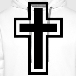 christian_cross Tee shirts - Sweat-shirt à capuche Premium pour hommes