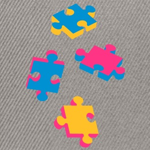 four puzzle pieces  Hoodies & Sweatshirts - Snapback Cap