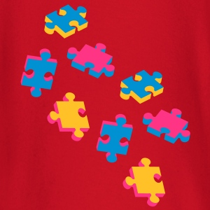 four puzzle pieces  T-Shirts - Baby Long Sleeve T-Shirt
