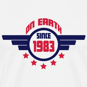 1983_on_earth Sweatshirts - Herre premium T-shirt
