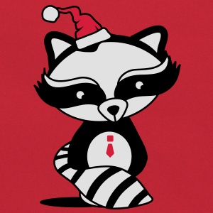 cute raccoon with Santa Hat  T-Shirts - Retro Bag