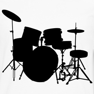 music drumset drum Tee shirts - T-shirt manches longues Premium Homme