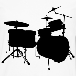 music drums drum set T-shirts - Långärmad premium-T-shirt herr