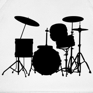 music drums drum set T-Shirts - Baseball Cap
