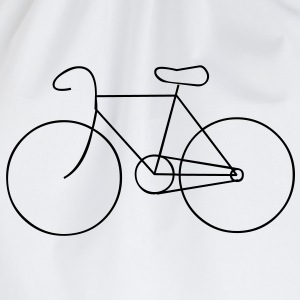 bike cycle cycling logo sport bicycle T-Shirts - Turnbeutel