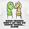 Good Friends 1 (3c)++ Camisetas - Camiseta hombre