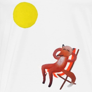 Sunbathing Fox Baby Bodysuits - Men's Premium T-Shirt