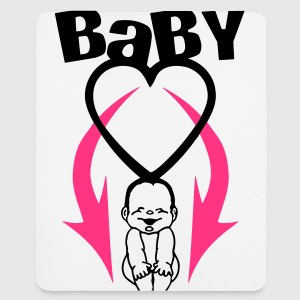 baby on board (2c) T-Shirts - Mousepad (Hochformat)