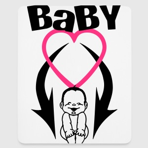 baby on board 2 (2c) T-Shirts - Mousepad (Hochformat)