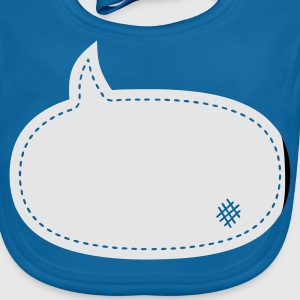 speech balloon patch :-: - Baby Organic Bib