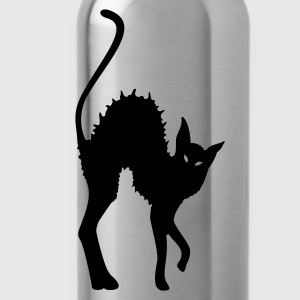 Black Cat - Katze - Cat  T-Shirts - Trinkflasche
