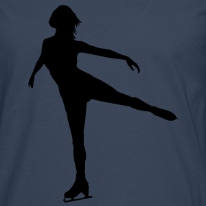 Ice Skating female - Herre premium T-shirt med lange ærmer