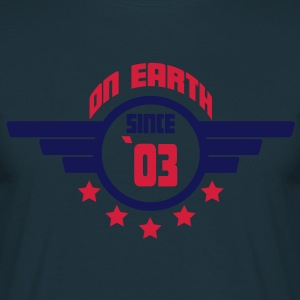 03_on_earth  Aprons - Men's T-Shirt