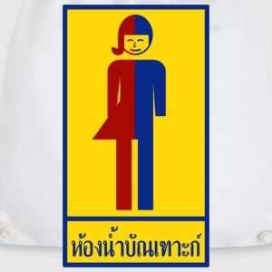 Ladyboy / Tomboy Toilet / Restroom Thai Sign Mugs  - Drawstring Bag