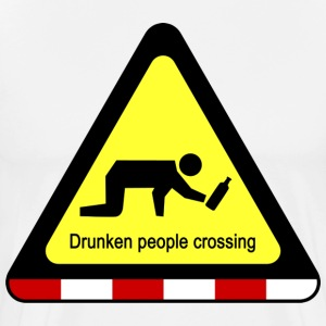 Drunken people crossing sign Aprons - Men's Premium T-Shirt