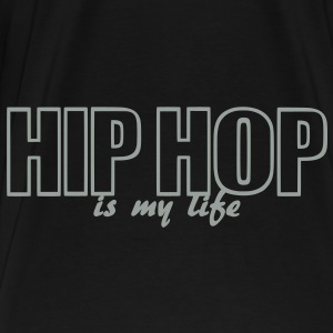 hip hop is my life Väskor - Premium-T-shirt herr