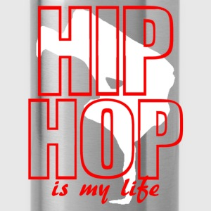 hip hop is my life Felpe - Borraccia
