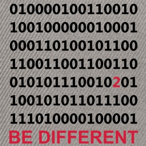 Be Different - Ser diferentes - Binario - Digital Sudadera - Gorra Snapback