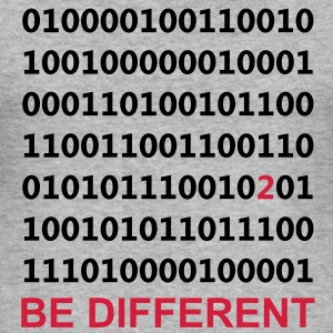 Be Different - Ser diferentes - Binario - Digital Sudadera - Camiseta ajustada hombre
