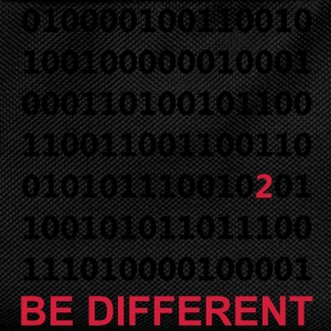Be Different - Ser diferentes - Binario - Digital Sudadera - Mochila infantil