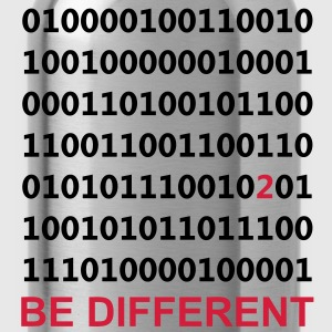 Be Different - Vara annorlunda - Binary - Digital Tröjor - Vattenflaska