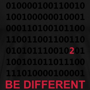 Be Different - Binary - Digitaal Sweaters - Mannen Premium T-shirt