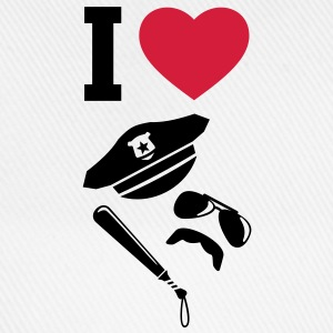 I LOVE - Police - Uniforms - Carnival T-Shirts - Baseball Cap