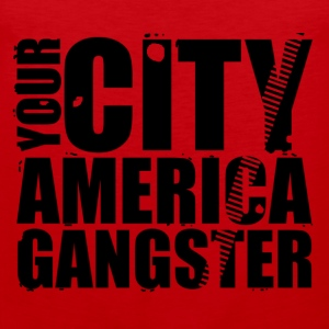 your city america gangster T-Shirts - Men's Premium Tank Top