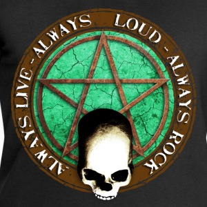 rock_and_roll_and_skull_and_pentagram_d Camisetas - Sudadera hombre de Stanley & Stella