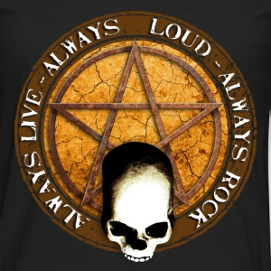 rock_and_roll_and_skull_and_pentagram_e Tee shirts - T-shirt manches longues Premium Homme
