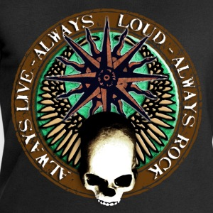 rock_and_roll_and_skull_and_pentagram_j T-shirts - Mannen sweatshirt van Stanley & Stella