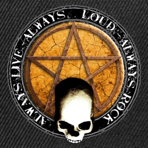 rock_and_roll_and_skull_and_pentagram_p Camisetas - Gorra Snapback