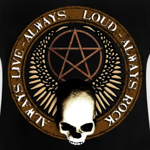 rock_and_roll_and_skull_and_pentagram_b Skjorter - Baby-T-skjorte