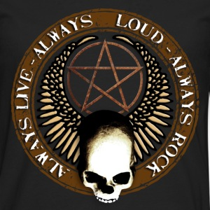 rock_and_roll_and_skull_and_pentagram_b Tee shirts - T-shirt manches longues Premium Homme