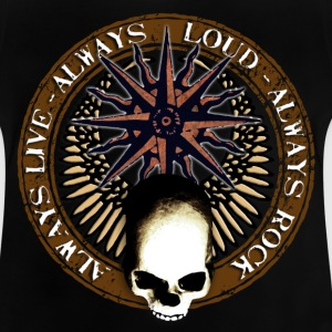 rock_and_roll_and_skull_and_pentagram_c Skjorter - Baby-T-skjorte