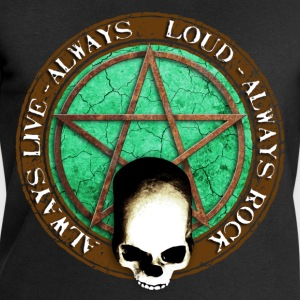 rock_and_roll_and_skull_and_pentagram_d Shirts - Mannen sweatshirt van Stanley & Stella