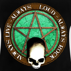 rock_and_roll_and_skull_and_pentagram_d Camisetas - Camiseta bebé