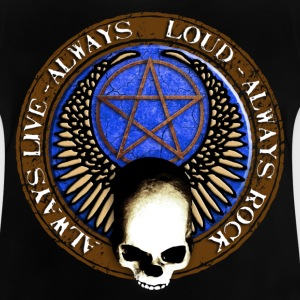 rock_and_roll_and_skull_and_pentagram_i Skjorter - Baby-T-skjorte