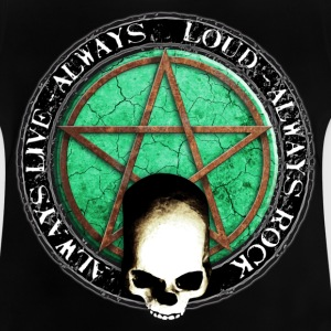 rock_and_roll_and_skull_and_pentagram_o T-shirts - Baby-T-shirt