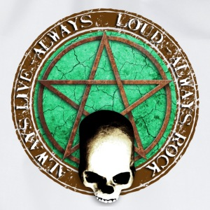 rock_and_roll_and_skull_and_pentagram_d Buttons - Gymtas