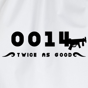 0014 twice as good Doppelagent T-Shirts - Turnbeutel
